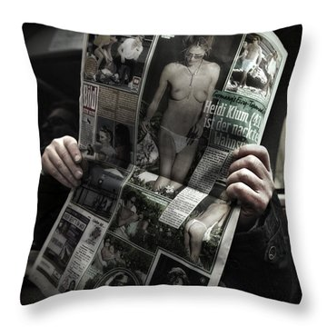 Throw Pillow featuring the photograph Vitameatavegamin by Michel Verhoef