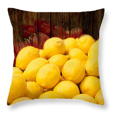Throw Pillow featuring the photograph Vitamin C by Gunter Nezhoda
