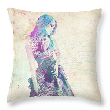 Viva La Vida Throw Pillow by Linda Lees