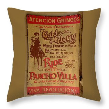 Viva Revolucion - Pancho Villa Throw Pillow