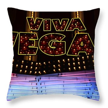 Viva Vegas Neon Throw Pillow