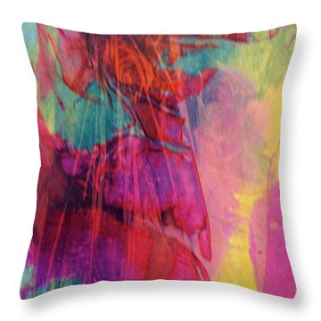 Throw Pillow featuring the painting Vivace by Mary Sullivan