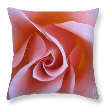 Vivacious Pink Rose Throw Pillow