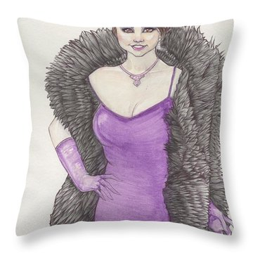 Vivacious Samantha Throw Pillow by Jimmy Adams