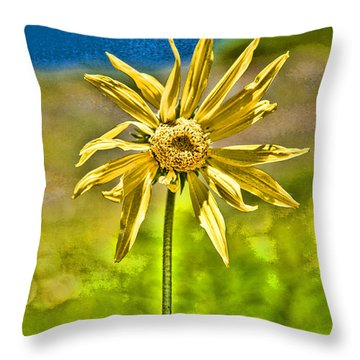 Vivacious Sunflower Throw Pillow