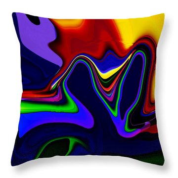 Vivacity  - Abstract  Throw Pillow by Gerlinde Keating - Galleria GK Keating Associates Inc