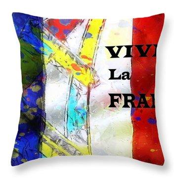 Vive La France Throw Pillow by Brian Raggatt