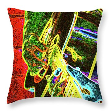 Vivid Acoustic Throw Pillow by Molly McPherson