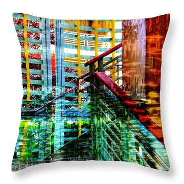 Vivid Existence-no2 Throw Pillow