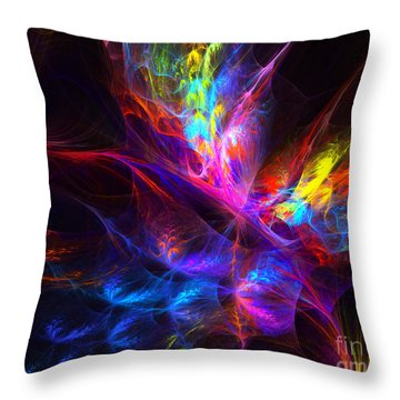 Vivid Imagination Throw Pillow by Arlene Sundby