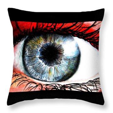 Vivid Vision  Throw Pillow by Tylir Wisdom