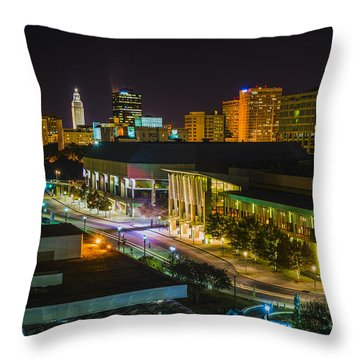 Vividly Downtown Baton Rouge Throw Pillow