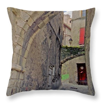 Viviers Alley Throw Pillow