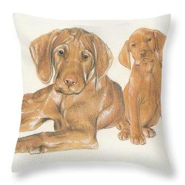 Vizsla Puppies Throw Pillow
