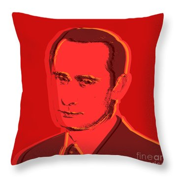 Vladimir Putin Throw Pillow by Jean luc Comperat