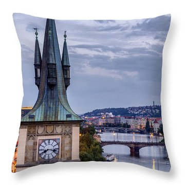 Vltava River In Prague Throw Pillow
