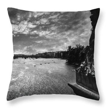Vltava Throw Pillow by Taylan Apukovska