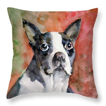 Vodka - French Bulldog Throw Pillow