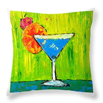 Vodka Martini Collection Bar Decor - Modern Art Throw Pillow