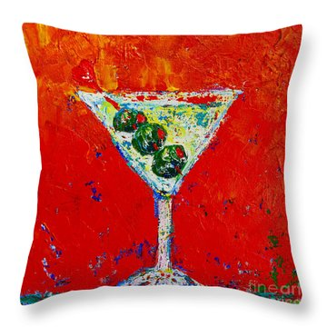 Vodka Martini Shaken Not Stirred - Martini Lovers - Modern Art Throw Pillow