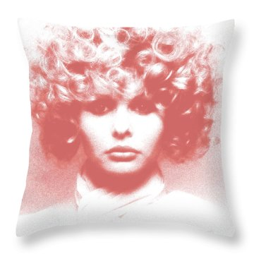 Vogue  Throw Pillow by Victor Minca