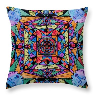 Voice Dialogue The One Throw Pillow by Teal Eye  Print Store