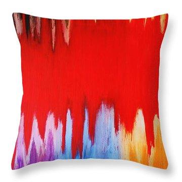 Throw Pillow featuring the painting Voice by Michael Cross
