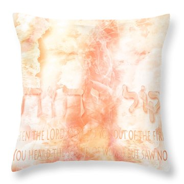 Voice Of Fire Throw Pillow