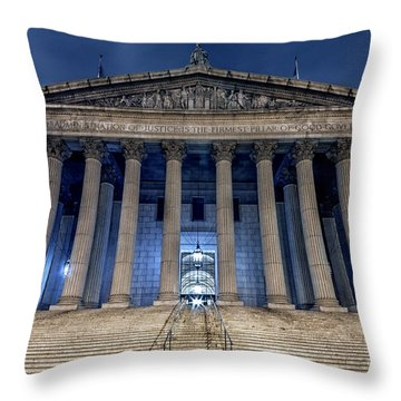Voice Of Shadows Throw Pillow