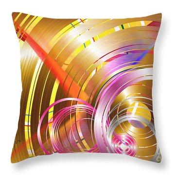 Throw Pillow featuring the digital art Voices by Leo Symon