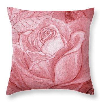 Voir La Vie En Rose Throw Pillow