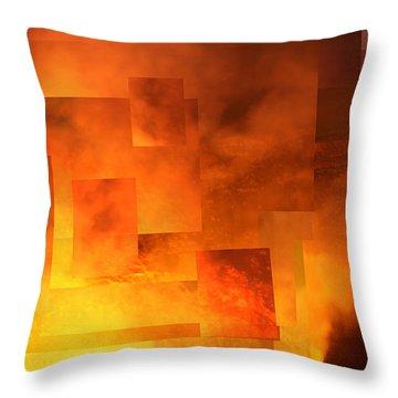 Volcanic Fire - Kilauea Caldera  Throw Pillow