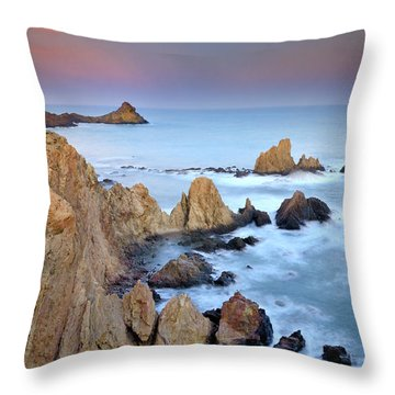 Volcanic Planet Throw Pillow by Guido Montanes Castillo