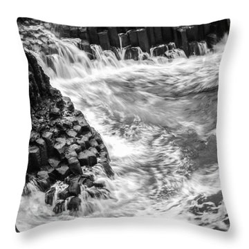 Volcanic Rocks And Water Throw Pillow