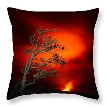 Volcano National Park Glow All Profits Go To Hospice Of The Calumet Area Throw Pillow