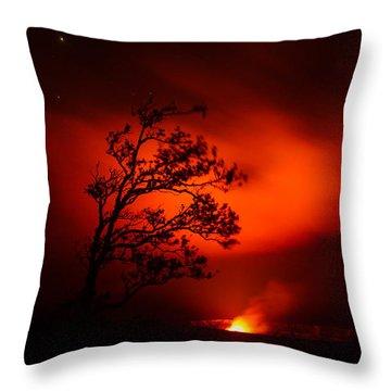 Volcano National Park Hawaii Throw Pillow
