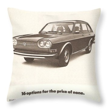 Volkswagen 411 Throw Pillow by Georgia Fowler