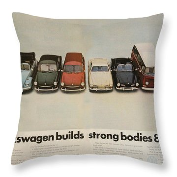 Volkswagen Builds Strong Bodies 8 Ways Throw Pillow