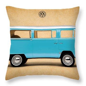 Volkswagen Bus Throw Pillow