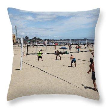 Volleyball At The Santa Cruz Beach Boardwalk California 5d23837 Throw Pillow