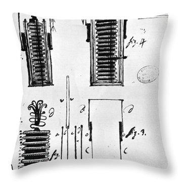 Voltaic Pile, 1801 Throw Pillow by Granger