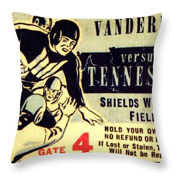 Volunteer State Rivalry Throw Pillow by Benjamin Yeager