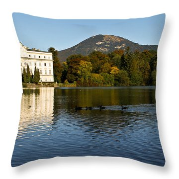 Von Trapp's Mansion Throw Pillow by Silvia Bruno