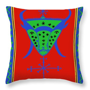 Voodoo Bosou Throw Pillow