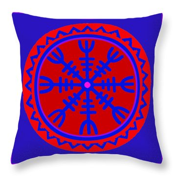 Voodoo Helm Of Awe Throw Pillow