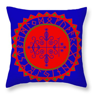 Voodoo Veve  As Above So Below Throw Pillow
