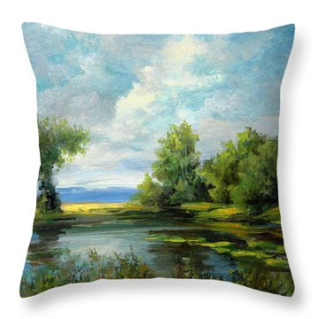 Voronezh River Beauty Throw Pillow