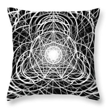 Throw Pillow featuring the drawing Vortex Equilibrium by Derek Gedney