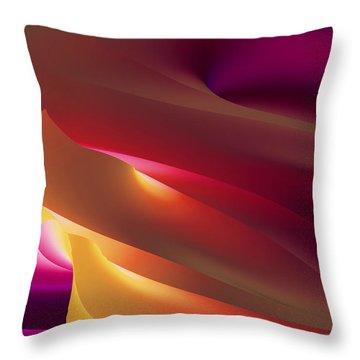 Vortex Of Light Throw Pillow