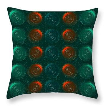 Vortices Throw Pillow by Anastasiya Malakhova